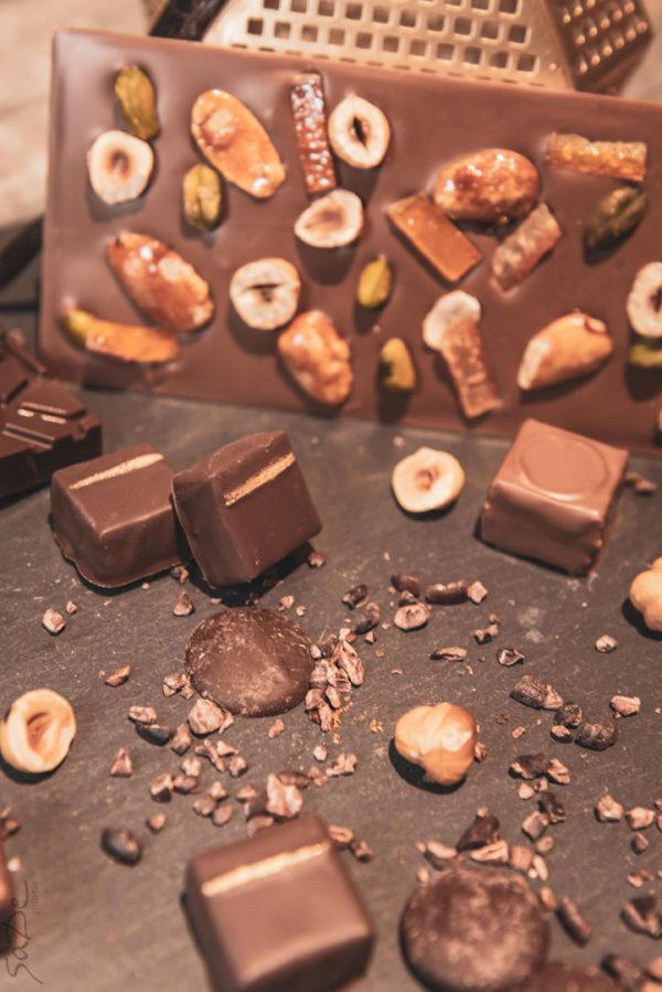 Tablette mendiant au chocolat noir