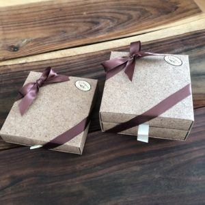 Boîtes tiroirs en fibre de fêves de cacao