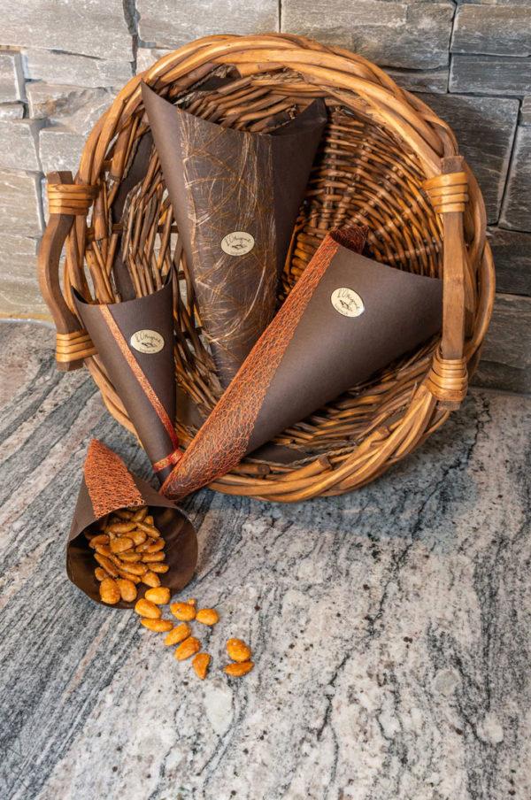 Amandes caramélisées l'origine chocolaterie artisanale