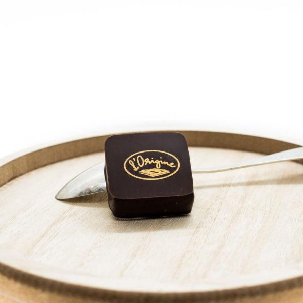 Pralinés noisette l'Origine chocolaterie artisanale le crêt bulle