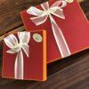 Boîte rouge orange