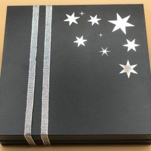Boîte de Noël etoiles