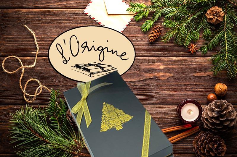 Boîtes de chocolat de Noël